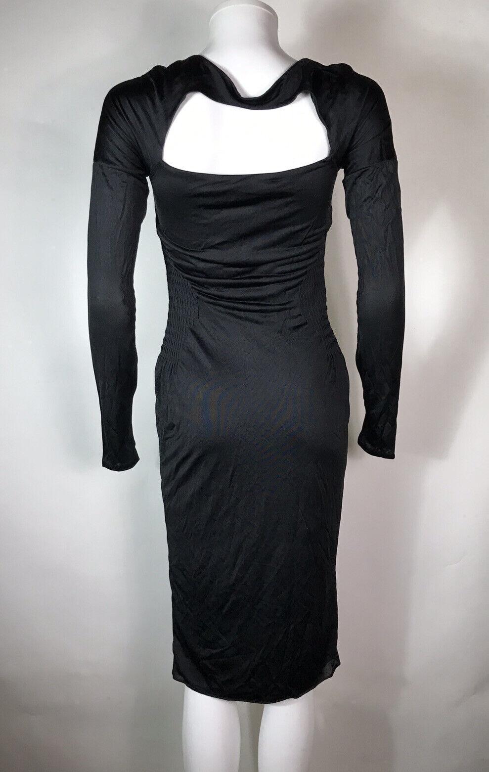 Rare Vtg Gucci Black Cut Out Dress S - image 6