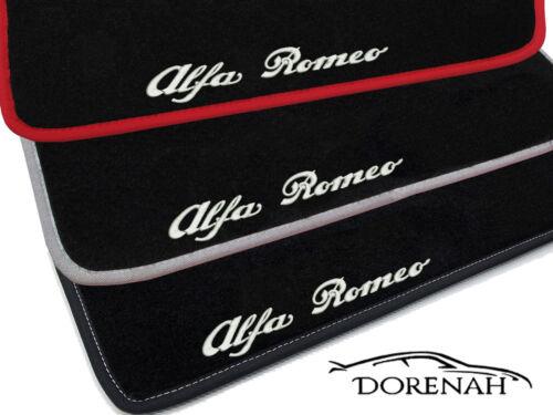 TAPPETINI ALFA ROMEO GTV 1995-2005 BORDI NERI PERSONALIZZABILI 0114