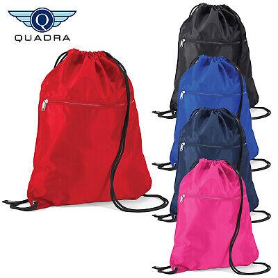 Freundlich Quadra Zipped Pocket Drawstring Bag Kids Pe Gym Swimming Bag Water Resistant New Moderate Kosten