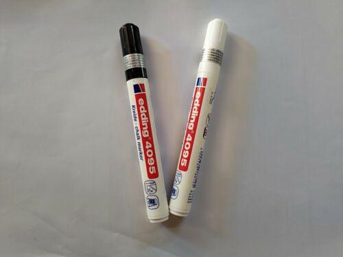 Edding 4095 im Set wie auf Foto insgesamt 2 Stifte in weiß//schwarz