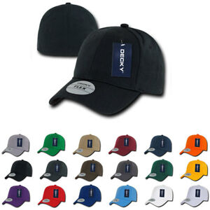 5657a1bb343 Decky Flex Elastic Fitted 6 Panels One Size High Crown Baseball Hats ...