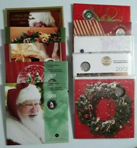 2004-to-2013-Canada-HOLIDAY-COIN-SET-Colourized-CHRISTMAS-DAY-25-Cent-Piece
