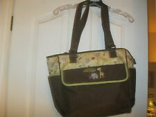BabyBoo and Multi Color Diaper bag -brown, beige, green animal design