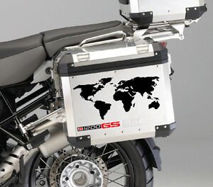 Bmw r1200gs side panniers box world stickers decals motorrad image is loading bmw r1200gs side panniers box world stickers decals gumiabroncs Images