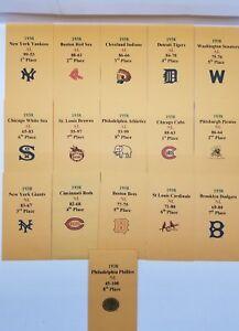 1969 APBA Baseball Printed Storage Envelopes with Stats and Team Logo