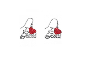 GUESS Ohrringe  UBE81072 versilgreen  red