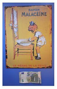 Targa-vintage-034-Savon-malaceine-le-regal-de-la-peau-034-sapone-metallo-cm-33x25