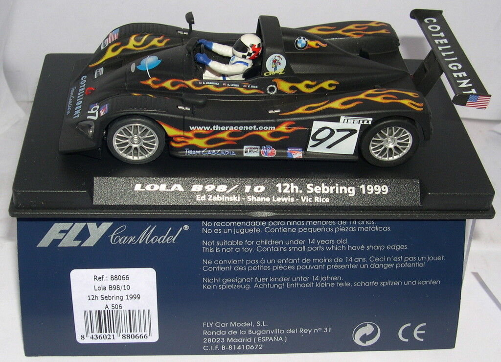 FLY 88066 A-506 LOLA B98 10 H SEBRING 1999 E.ZABINSKI S. LEWIS V. RICE MB