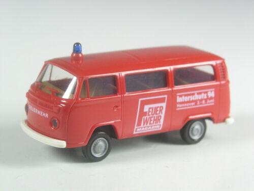 RAR Brekina VW t2 modello pubblicitario rivista POMPIERI interschutz 1994 Hannover OVP