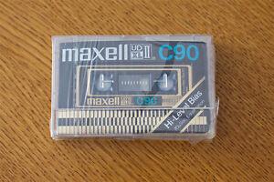 SEALED 1 MAXELL UDXL II   90           VS II    BLANK CASSETTE TAPE