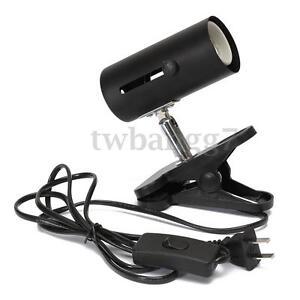 Black 300W Metal Ceramic Heat UV UVB Lamp Light Holder Clamp Brooder Reptile US