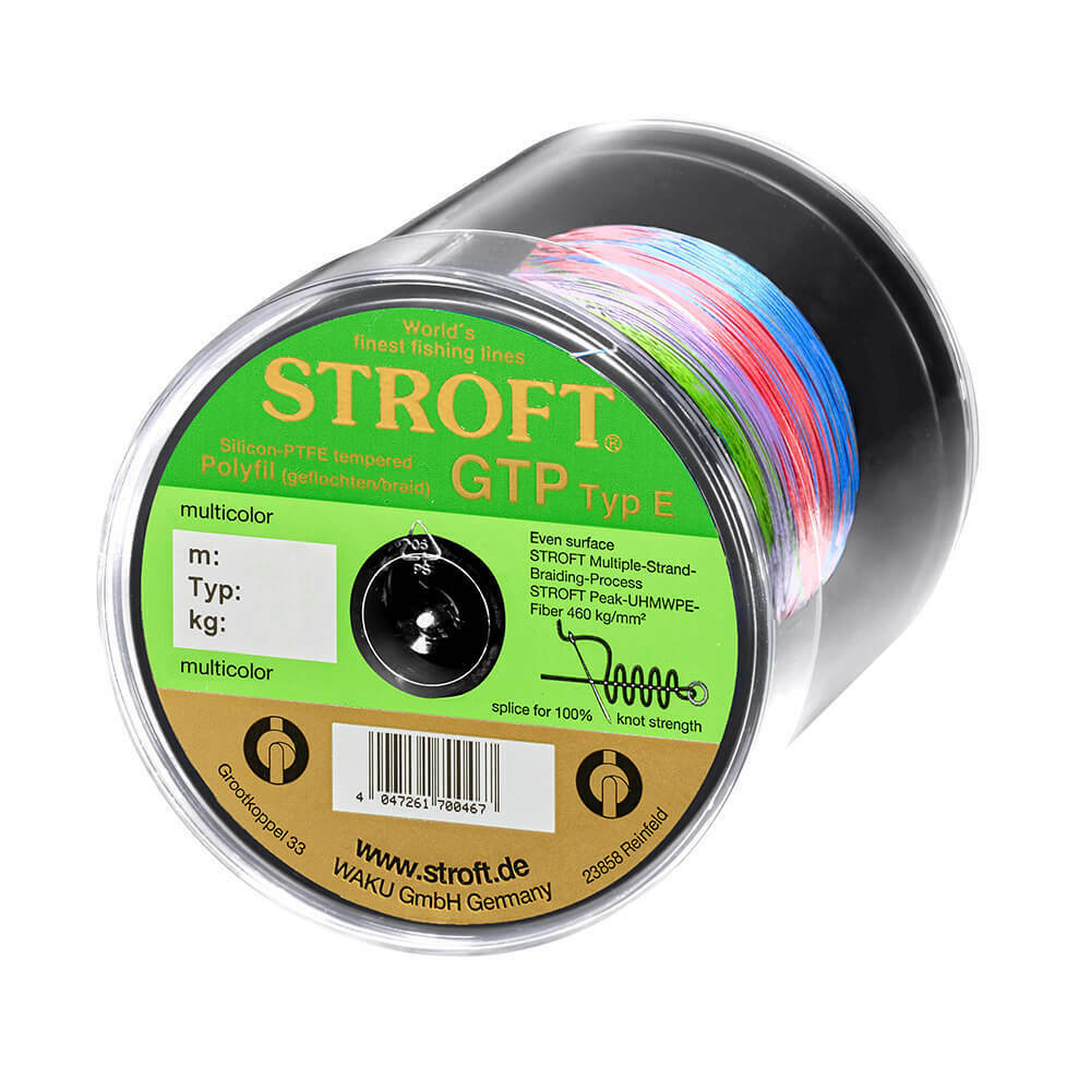 Stroft Schnur GTP Typ E geflochten multicolor 500m Angelschnur Angelleine Sehne