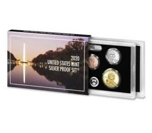 2020-U-S-MINT-10-COIN-SILVER-PROOF-SET-w-999-SILVER-AB-QUARTERS-IN-STOCK