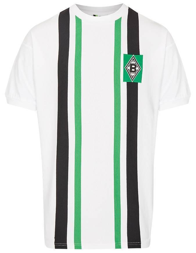 Score Draw Borussia Mönchengladbach Retro Trikot Heim 1974 NEU 106221
