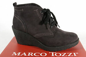 Marco À Bottines Tozzi Bottes Neuf Noir Lacets 25105 rxqrgECw1