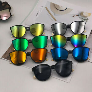 Newly-Oversized-Sunglasses-Cat-Eye-Flat-UV400-Eyewear-Mirror-Square-Lens-Glasses