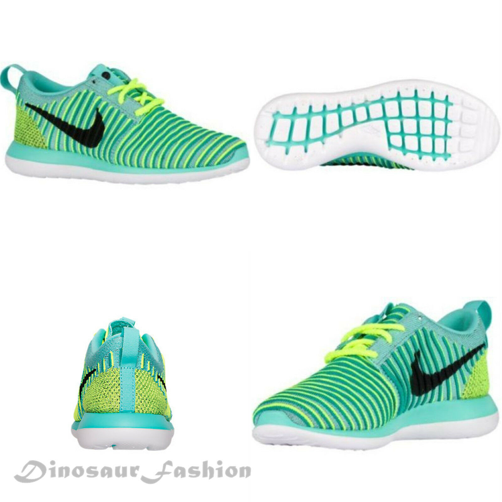 Nike ROSHE TWO FLYKNIT (GS) (844620 300) Casual Sneakers shoes,New with Box.