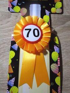 Gl ckwunsch rosette zum 70 geburtstag dekoration geschenk zum 70 geburtstag ebay - Dekoration zum 70 geburtstag ...