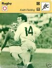 FICHE CARD : Keith Fielding ENGLAND ANGLETERRE RUGBY 70s