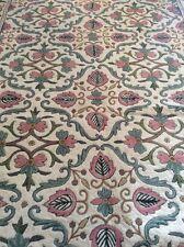 Gran Vintage Indio Dhurrie. para bordar bordado Alfombra. Antiguo textiles Pared Colgar