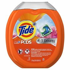 Tide PODS Plus Downy HE Turbo Laundry Detergent Pack Powdered Soap 61 pack