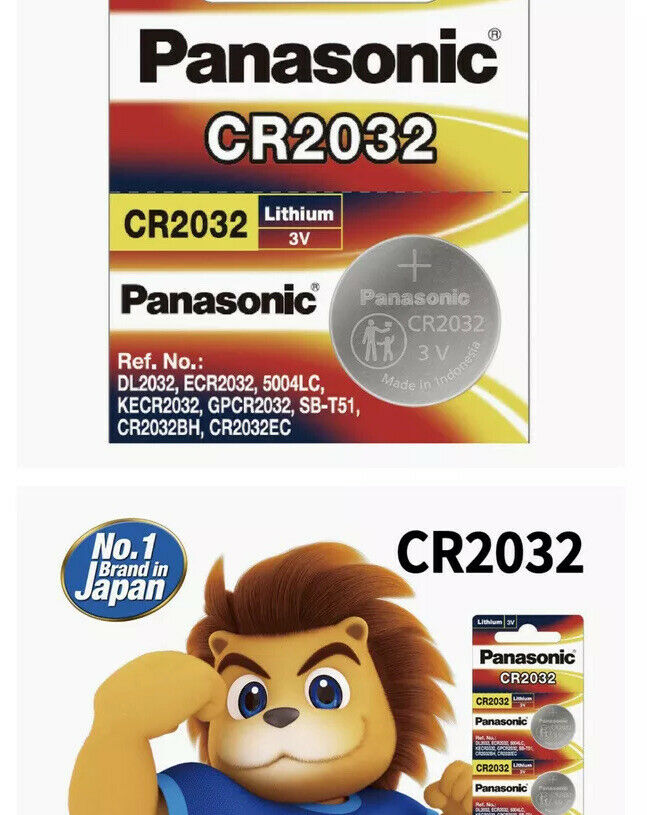 1 panasonic cr2032 battery 3v lithium button 🥇 ✨