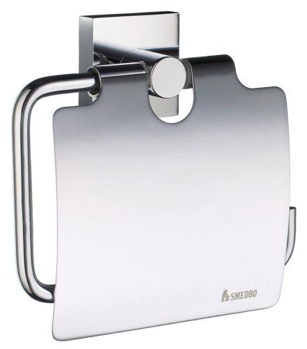 Smedbo House wc-porte-rouleau avec couvercle en Laiton Chromé Nouveau//OVP