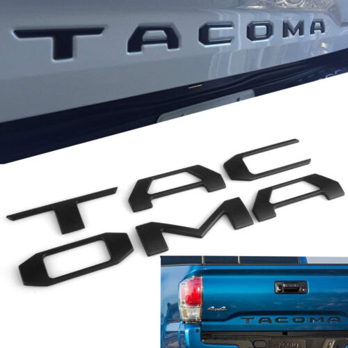 Fit for Toyota Tacoma,Tailgate Decal Letter Inserts 2016-2018 MATTE BLACK