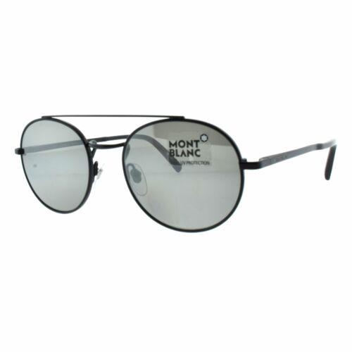 Mont Blanc MB604S//S 02C Black Men Round 100/% UV Sunglasses