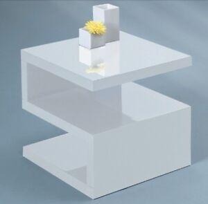Couchtisch beistelltisch hochglanz weiss pu uv lack for Couchtisch 56 cm hoch
