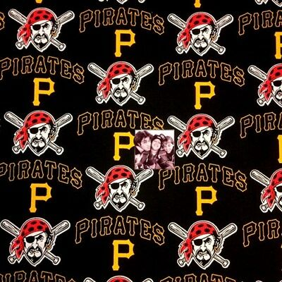 "PITTSBURGH PIRATES NFL 60/"" Cotton Fabric Half Yard Fabric Traditions B"