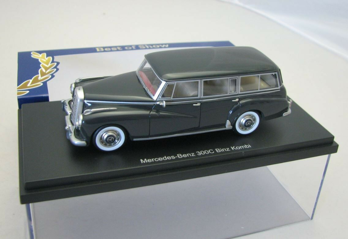 BoS Resine Model Car 1 43 Mercedes Benz W186 300C Combi Binz dark gris
