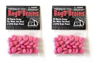 2-Bag-O-039-Brains-50-Small-Plastic-Brain-Markers-Zombie-Dice-Zombies-TLC-2026