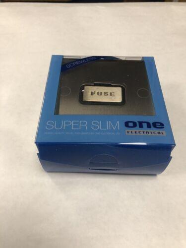 Oneelectrical Slsbb 4001//13 A Interrupteur Fusible Spur//Chrome Brossé-Noir Ins