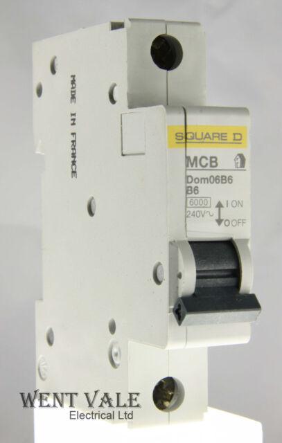 Square D Domae - DOM06B6 6a Type B Single Pole MCB Un-used