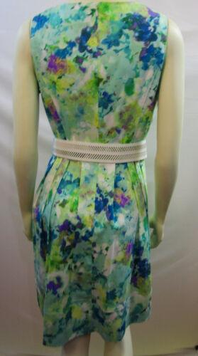 Calvin Klein Evec Floral Ceinturée Neuf Robe Taille Etiquettes 10 wwpqdr