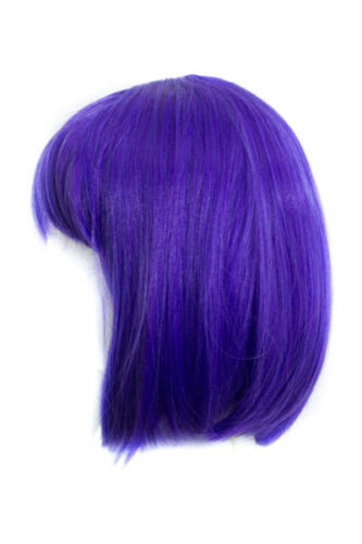 12/'/' Short Straight Chin Length Amethyst Purple Synthetic Cosplay Wig NEW