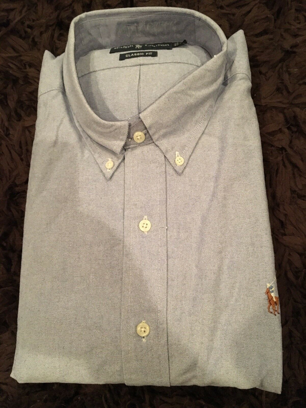 Polo Ralph Lauren Dress Oxford Long Sleeve Solid bluee Men Classic Fit XL NWT