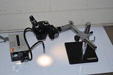 Bausch Amp Lomb Stereo Zoom Microscope Dolan Jenner Fiber Optic Gooseneck Boom Bampl