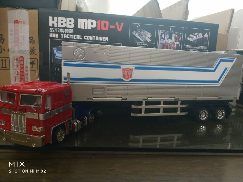 Kubianbao kbb metallteile verformung optimus prime mp10v mp10-v & kbb - trailer