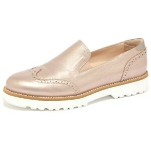 Details about 1507Q mocassino HOGAN ROUTE PANTOFOLA bronzo scarpa donna loafer woman