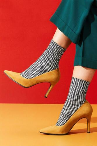 36 bis 42 NEU 2019 Bonnie Doon Socken Damen Pied de Poule Sock Gr