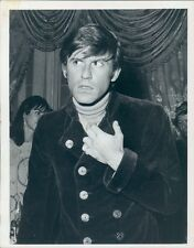 1968 Actor Roddy McDowall 1960s Wearing Double Breasted Coat Press Photo