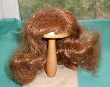 """doll wig brown 7,5"""" to 8"""" long hair, curls at the back"""
