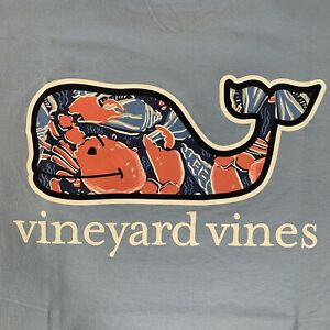Vineyard-Vines-Mens-Sz-2XL-Blue-S-S-Pocket-T-Shirt-Shell-Crab-Whale-Fill-NEW