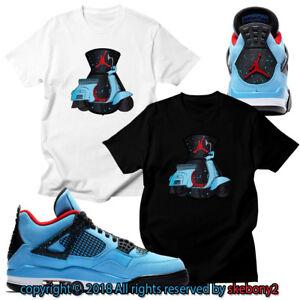 91375985b3faa Details about CUSTOM T SHIRT matching Nike Travis Scott x Air Jordan 4  Cactus Jack JD 4-1-2