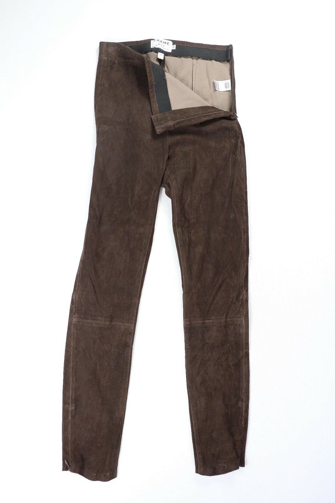Frame Women's Brown Suede Lamb Leather Leggings Pants S Small  995