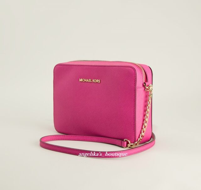 NWT  MICHAEL KORS  Jet Set Travel Large Crossbody Bag in Raspberry