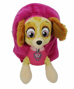 Paw-Patrol-Girls-Skye-3D-Plush-Soft-Pink-Backpack-Rucksack-School-Bag