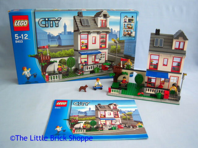 RARE Lego City Town 8403 CITY HOUSE - Boxed and complete with instructions